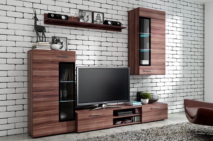 Moderná obývacia stena ELIAN slivka