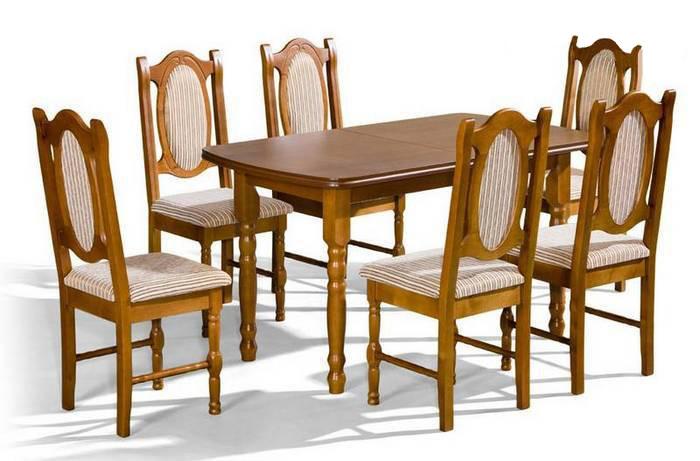 Stôl Saturn + stoličky NW (1+6) - Súprava M25