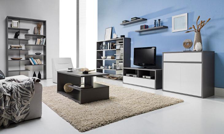 Moderná obývacia stena ZONDA zostava 1